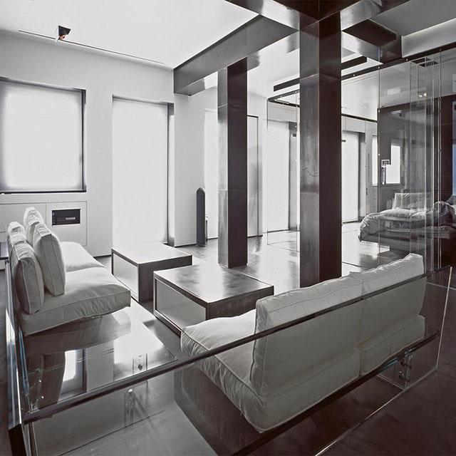 #5 Glass house sofas