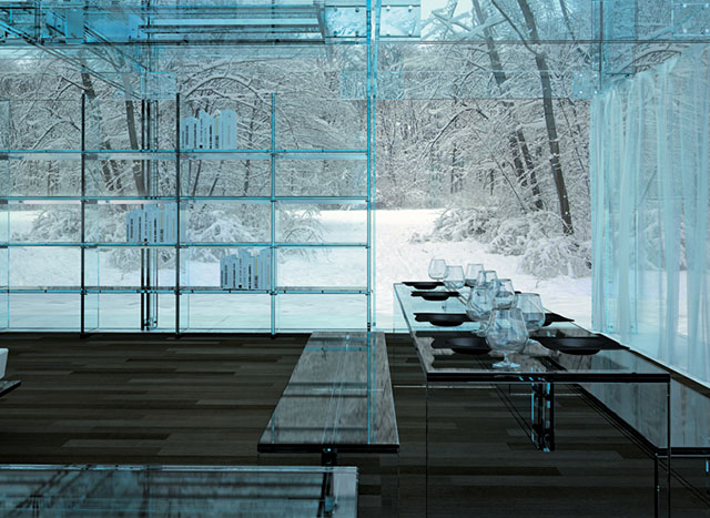 #7 Glass house dining table