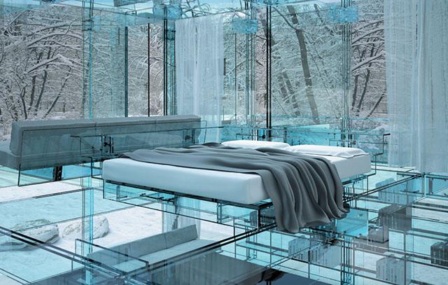 #1Glass House Bedroom