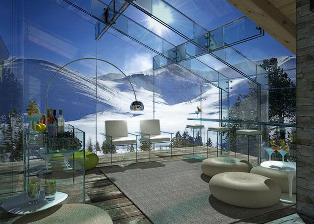 #2 Glass house living room