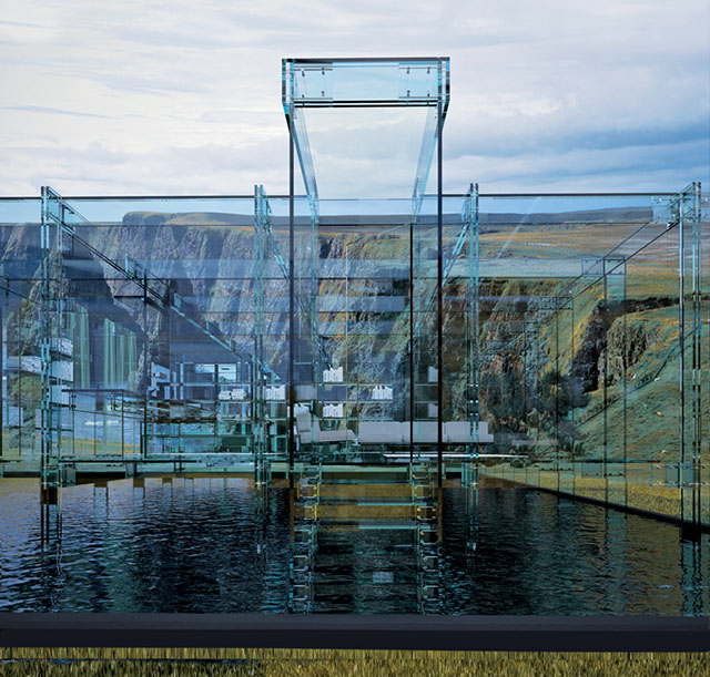 #4 Glass house on water