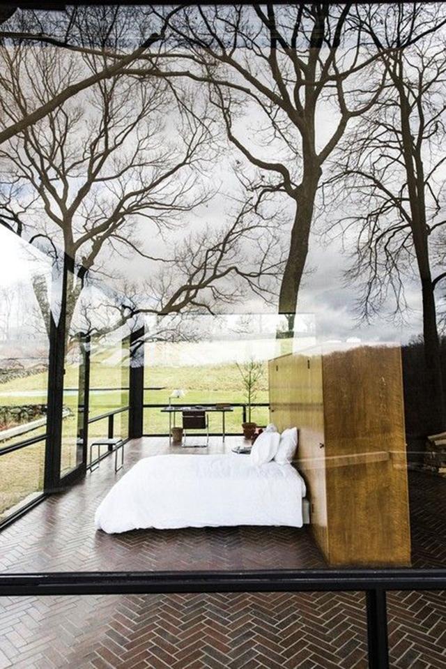 Bilik tidur dalam rumah kaca