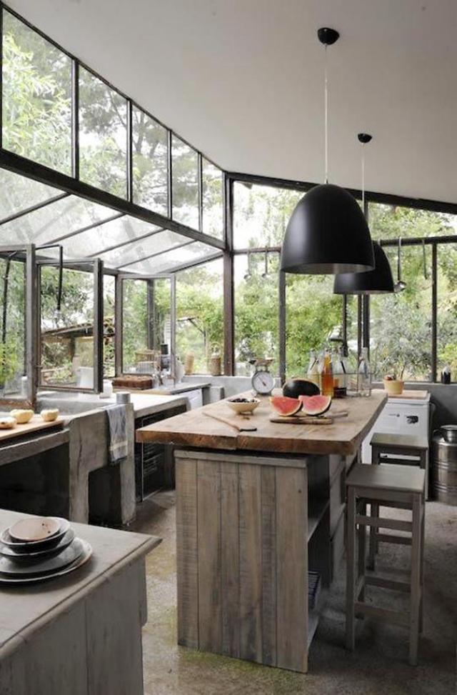 Ruang dapur rumah kaca