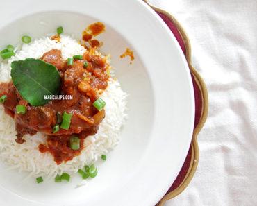 peh sedapnya resepi, resepi mudah daging masak merah, cara mudah masak, cara masak daging salai, resepi daging salai masak merah