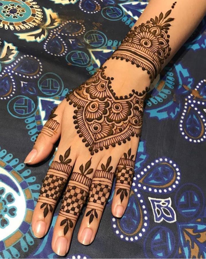 henna cantik india pengantin